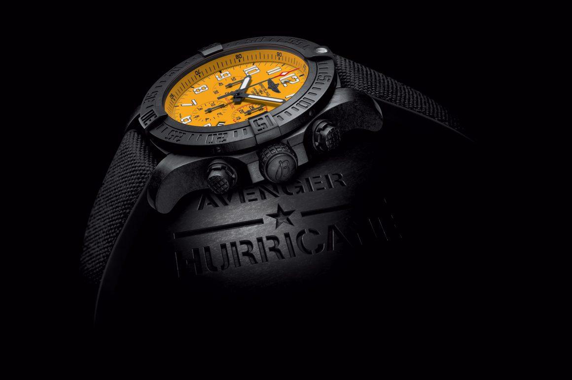 Breitling Avenger Hurricane 12H Yellow Dial