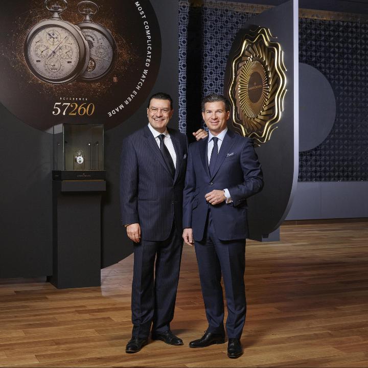 Mr Juan Carlos Torres CEO of Vacheron Constantin & Mr Louis Ferla, General Manager Sales & Marketing of Vacheron Constantin. SIHH2017