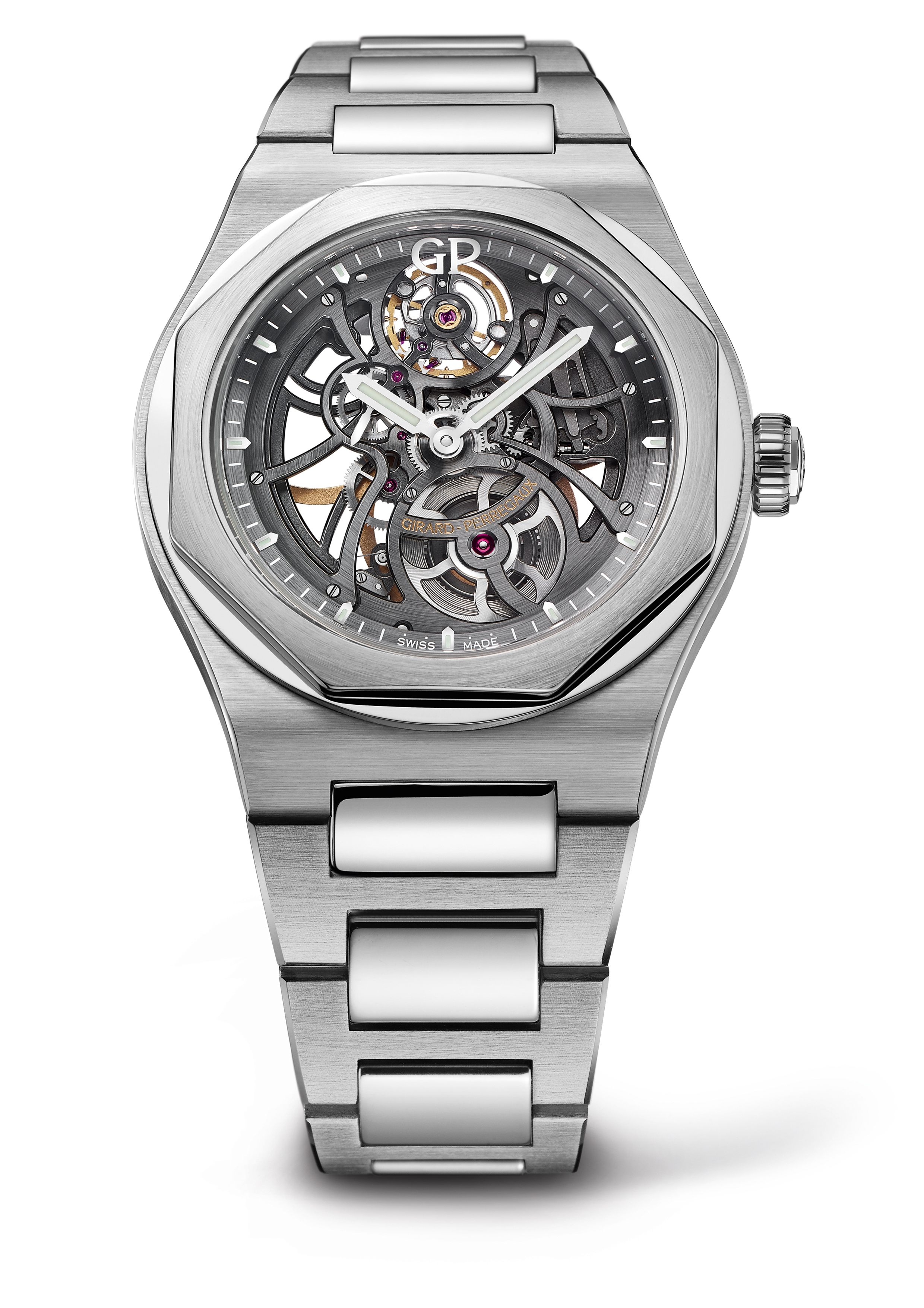 Girard-Perregaux Laureato Skeleton Openworked Dial Stainless Steel